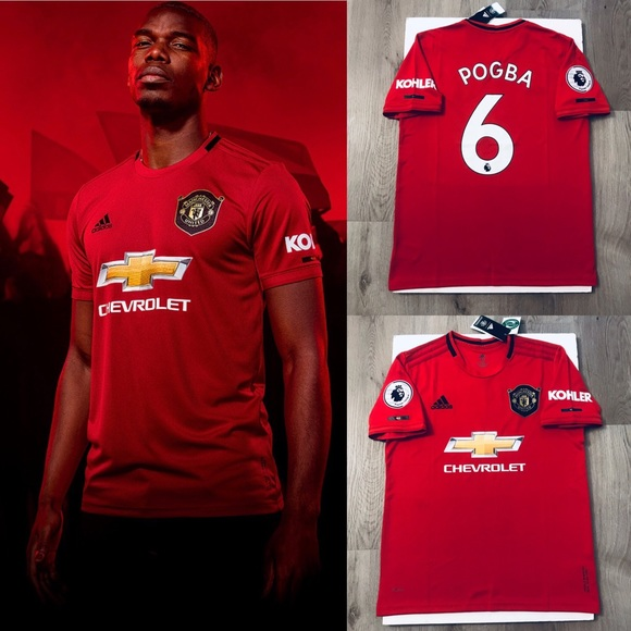 detailed look 1efba e2b28 Paul Pogba soccer jersey Manchester United home NWT